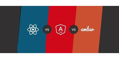 Comparing and contrasting Angular, React and Ember image