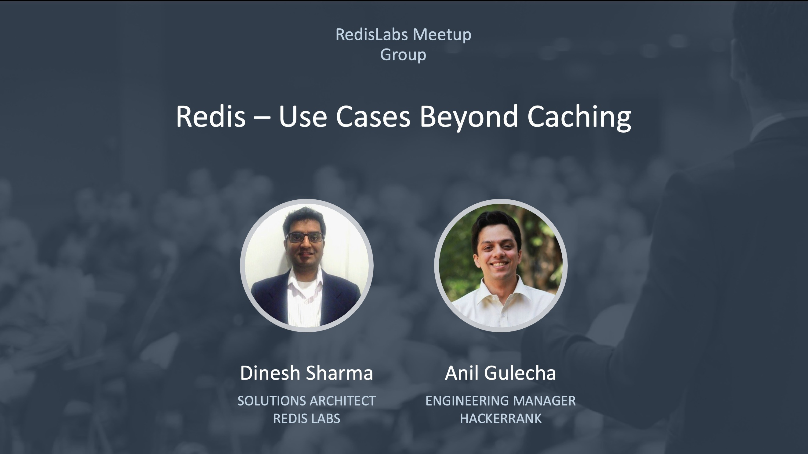 Redis - Use Cases Beyond Caching · Eventil