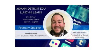 Detroit EDU Lunch & Learn - Paid Social 101: Proving ROI of Social Advertising image