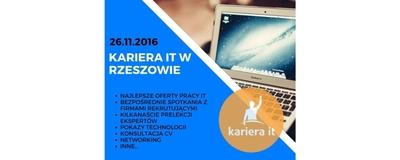 Kariera IT w Rzeszowie - bezpłatne spotkanie branży IT image