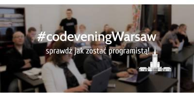 CodeveningWarsaw - sprawdź jak zostać programistą! image